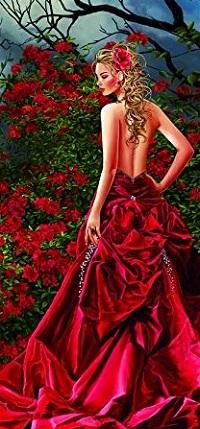 Аватар вконтакте Девушка в красном платье с оголенной спиной, by Nene Thomas
