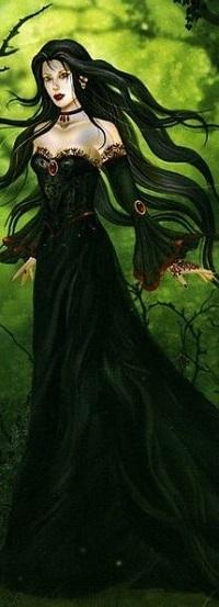Аватар вконтакте Девушка в длинном черном платье, by Nene Thomas