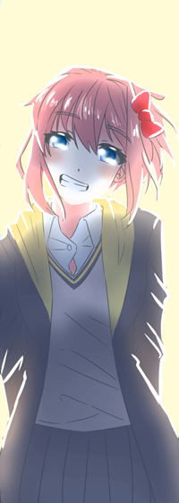 Аватар вконтакте Sayori / Сайори из игры Doki Doki Literature Club, by ShidoDraws