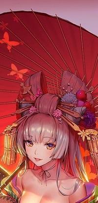 Аватар вконтакте Девушка с красным зонтом