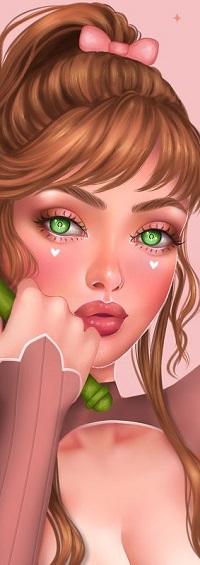 Аватар вконтакте Девушка с зелеными глазами
