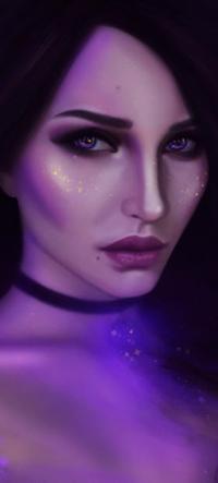 Аватар вконтакте Длинноволосая девушка в космосе, by BellaDiablosita