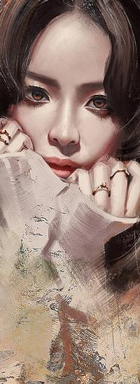Аватар вконтакте Девушка с руками у лица, by trungbui42
