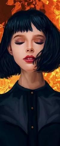 Аватар вконтакте Девушка с черными волосами, by Ivan Kalinin