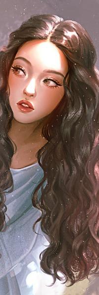 Аватар вконтакте Девушка с длинными волосами, by Karmen Loh