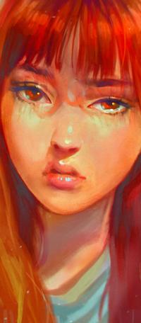 Аватар вконтакте Плачущая рыжеволосая девушка, by zephy0