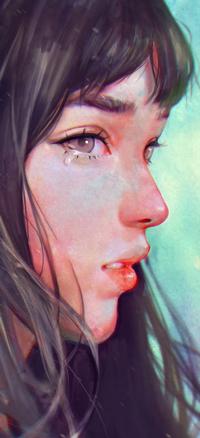 Аватар вконтакте Плачущая темноволосая девушка в профиль, by zephy0