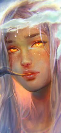 Аватар вконтакте Белокурая девушка с янтарными глазами, by zephy0
