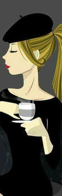 Аватар вконтакте Девушка с чашкой в руке