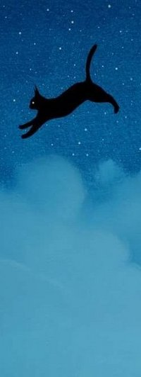 Аватар вконтакте Черная кошка на фоне неба