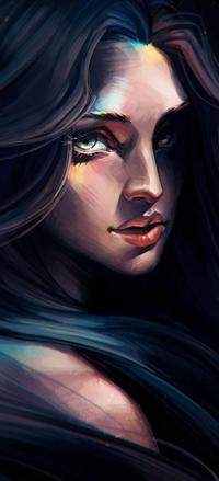 99px.ru аватар Темноволосая девушка, by sashajoe