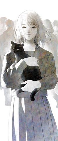 Аватар вконтакте Девушка кошкой на руках