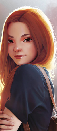 Аватар вконтакте Рыжеволосая девушка с рюкзаком, by Rajoviarbu
