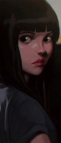 Аватар вконтакте Темноволосая девуша, by Sh1chiro