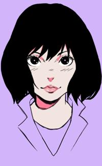 99px.ru аватар Темноволосая девушка на сиреневом фоне, by Sh1chiro