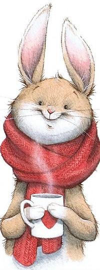 Аватар вконтакте Кролик с чашкой в лапах