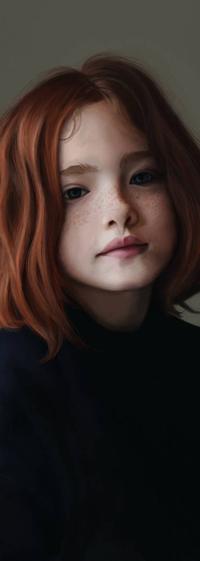 Аватар вконтакте Рыжеволосая девушка с веснушками, by Braisse01