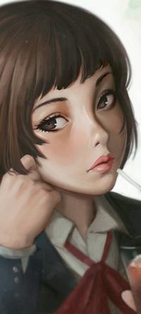 Аватар вконтакте Девушка с чаем, by rotisusu