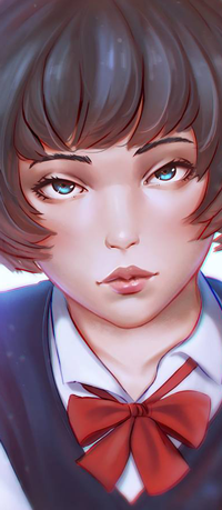 Аватар вконтакте Голубоглазая девушка в школьной форме, by rotisusu