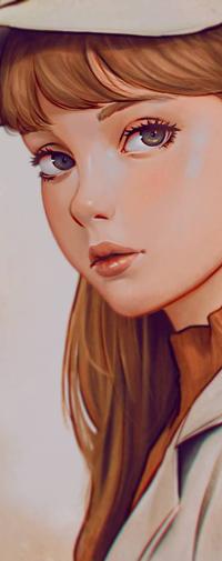 Аватар вконтакте Рыжеволосая девушка в шляпке, by rotisusu