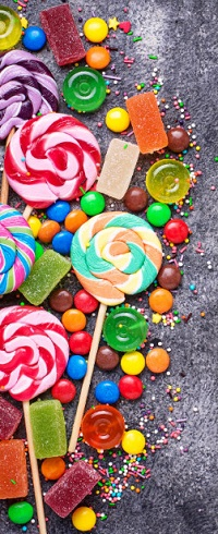 Аватар вконтакте Разноцветные леденцы на палочке, драже, мармелад и сахарная посыпка