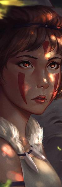 99px.ru аватар San / Сан из аниме Mononoke Hime / Принцесса Мононоке, by rotisusu