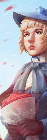 Аватар вконтакте Девушка с букетом цветов, by rotisusu