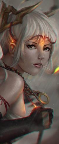 99px.ru аватар Белокурая девушка под дождем, by rotisusu