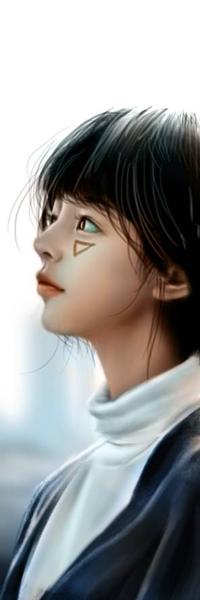99px.ru аватар Темноволосая девушка в профиль, by NagaW