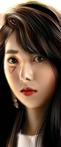 Аватар вконтакте Темноволосая азиатская девушка, by NagaW