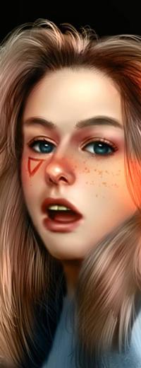Аватар вконтакте Светловолосая голубоглазая девушка, by NagaW