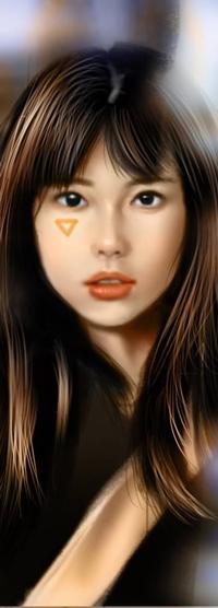 Аватар вконтакте Длинноволосая азиатская девушка, by NagaW