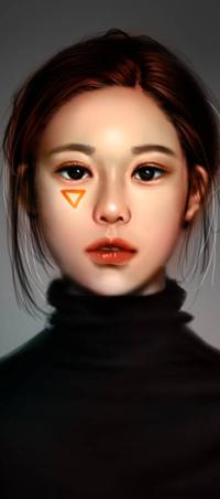 Аватар вконтакте Азиатская девушка в водолазке, by NagaW