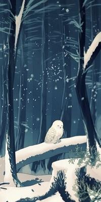 99px.ru аватар Сова сидит на зимней ветке