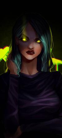 99px.ru аватар Девушка с желтыми глазами, by FlexyChan