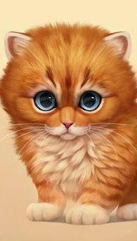 Аватар вконтакте Рыжий котенок с голубыми глазами, by Chiakiro