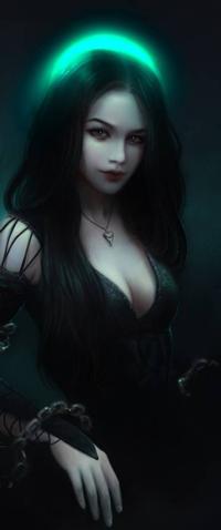 Аватар вконтакте Темноволосая девушка в черном платье, by Elvanlin