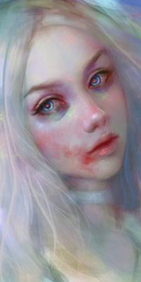 Аватар вконтакте Белокурая голубоглазая девушка, by Elvanlin