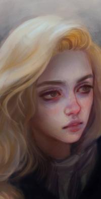 Аватар вконтакте Грустная светловолосая девушка, by Elvanlin