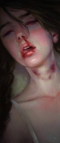 Аватар вконтакте Девушка с кровью на лице, by Elvanlin