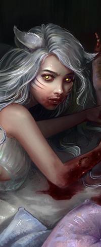 Аватар вконтакте Белокурая девушка с янтарными глазами, с кошачьими ушками, by Elvanlin