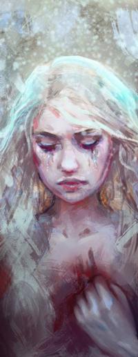 Аватар вконтакте Белокурая девушка с закрытыми глазами, by Elvanlin