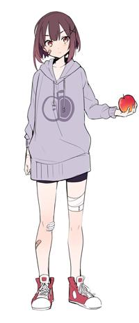 Аватар вконтакте Девушка с яблоком на белом фоне, by U35