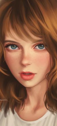 Аватар вконтакте Длинноволосая голубоглазая девушка, by umigraphics