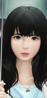 Аватар вконтакте Темноволосая девушка под зонтом, by reijubv
