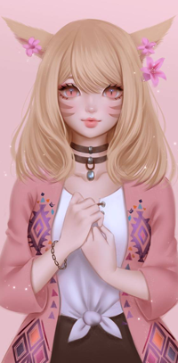 Аватар вконтакте Девушка с лисьими ушками, by Suikacchii