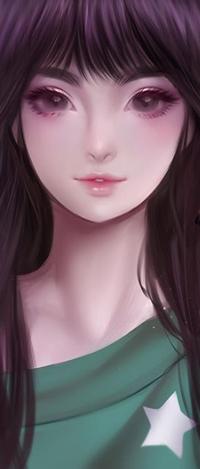 99px.ru аватар Длинноволосая девушка, by Suikacchii