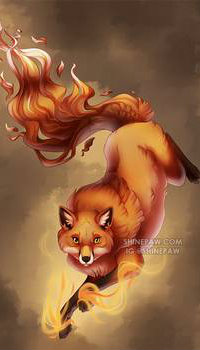 Аватар вконтакте Лиса и огнем у лап, by ShinePawArt