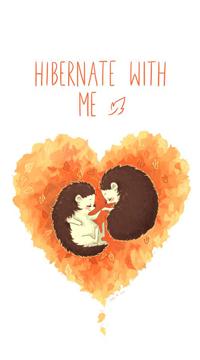 99px.ru аватар Два ежика внутри сердца (Hibernate with Me), by freeminds