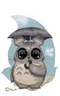 Аватар вконтакте Totoro / Тоторо из аниме Tonari no Totoro / Мой сосед Тоторо, by azuh